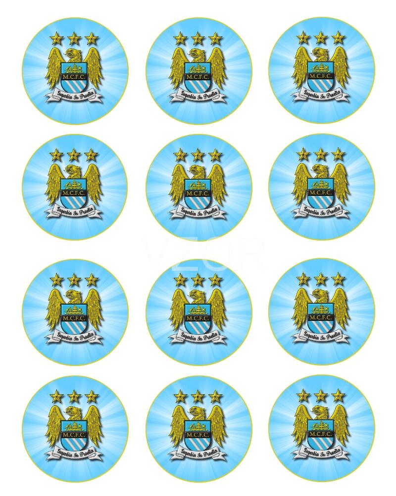 Manchester City FC - cupcakes