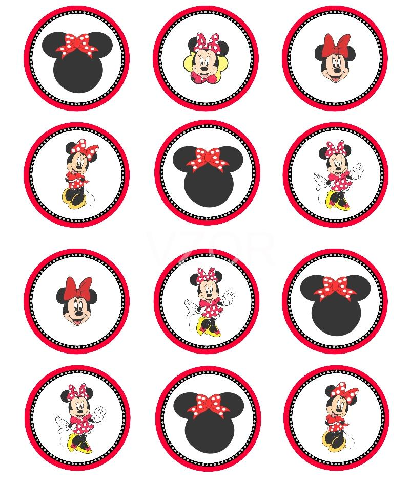 Minnie Mouse - cupcakes