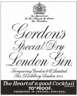 Gordon's Special Dry London gin